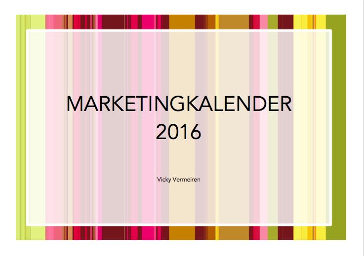 Marketingkalender 2016