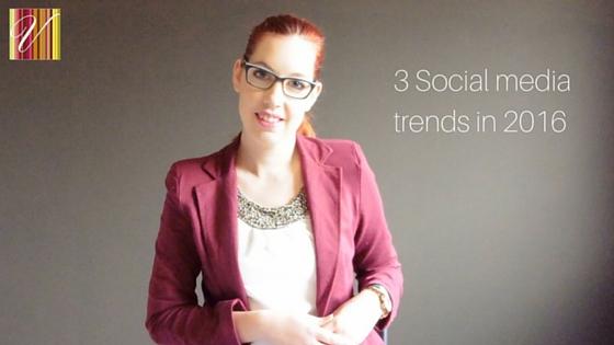 3 Social Media Trends In 2016