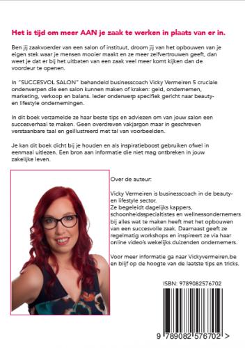 Achterkant Boek Cover – Succesvol Salon – Vicky Vermeiren