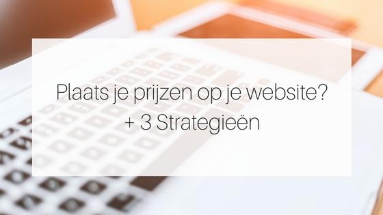 Plaats Je Prijzen Op Je Website 3 Strategieen