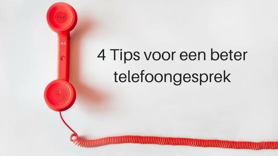 4 Tips Voor Een Beter Telefoongesprek