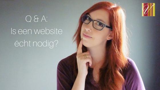 Is Een Website Echt Nodig?