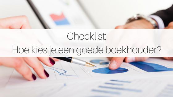 Checklist Hoe Kies Je Een Goede Boekhouder