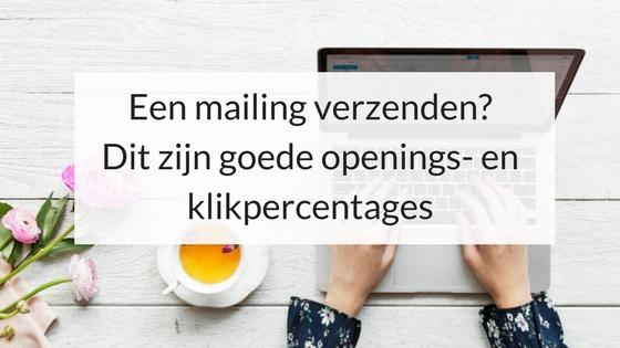 Een Mailing Verzenden? Dit Zijn Goede Openings- En Klikpercentages