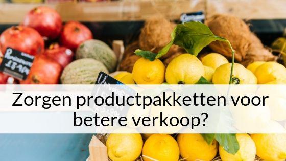 Zorgen Productpakketten Voor Betere Verkoop?