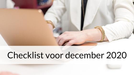 Checklist Voor December 2020